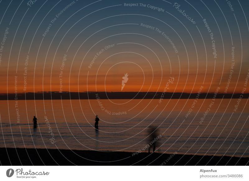 gleich ist Zappenduster Strand Dämmerung Sonnenuntergang Abend Küste Meer Außenaufnahme Farbfoto Himmel Wasser Horizont Schönes Wetter Ferien & Urlaub & Reisen