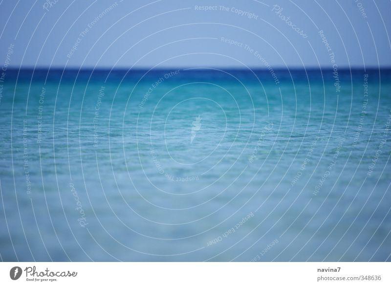 Meerblick Natur Wasser Himmel Wolkenloser Himmel Sommer Schönes Wetter Küste Bucht Insel Schwimmen & Baden Erholung Ferien & Urlaub & Reisen tauchen frei groß