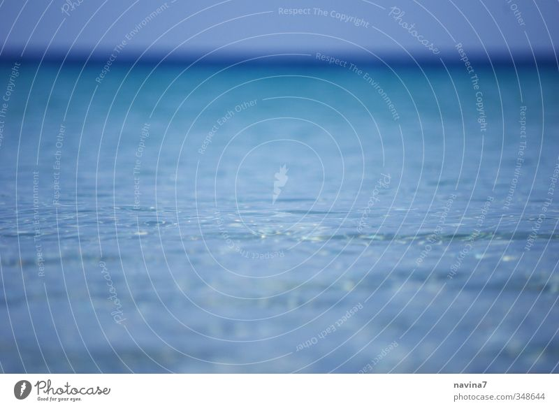 mehr Meer Ferien & Urlaub & Reisen Tourismus Ferne Strand Wellen Wasser Himmel Sommer Erholung exotisch blau Reinheit Fernweh Horizont Farbfoto Außenaufnahme