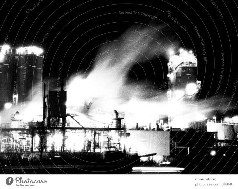 ROW in Motion Nacht Licht Nebel Chemiewerk Langzeitbelichtung Industrie wesseling Rauch Bewegung night