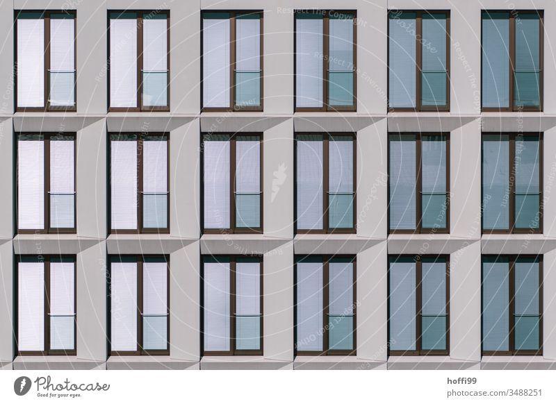 modern monoton reflektierende Fensterfassade Reflexion & Spiegelung reflektierende oberfläche Fensterscheibe Fensterfront Fassade Glas Außenaufnahme