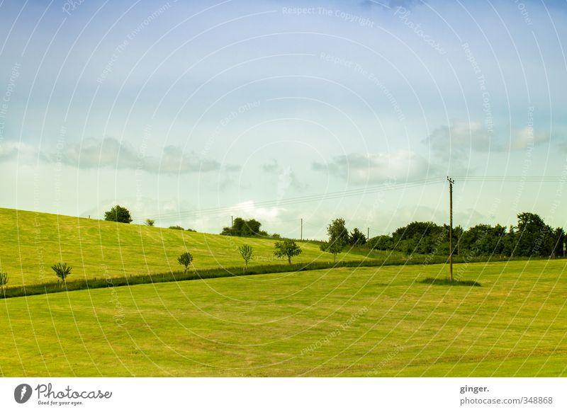 Bergische Landschaftsmalerei Himmel Natur blau grün Pflanze Baum Wolken gelb Umwelt Wiese Gras Frühling Linie Horizont Luft