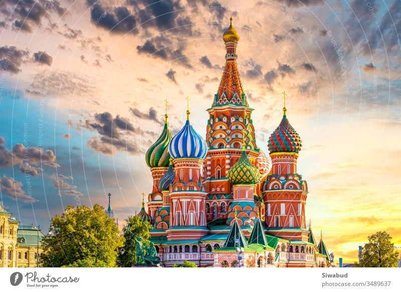 St. Basilius-Kathedrale alte Architektur auf dem Roten Platz in Moskau-Stadt, Schönes Gebäude alter Architektur in Moskau-Stadt, St. Basilius-Kathedrale Kirche Kathedrale von Wassili der Selige, Russland, Eimer Liste Traumziel.