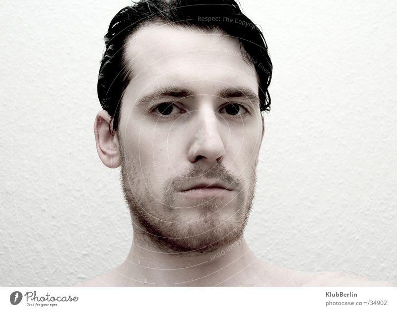 Bart ab #2 Mann schön kalt Klarheit direkt hart bewegungslos Vollbart intensiv Porträt rasiert
