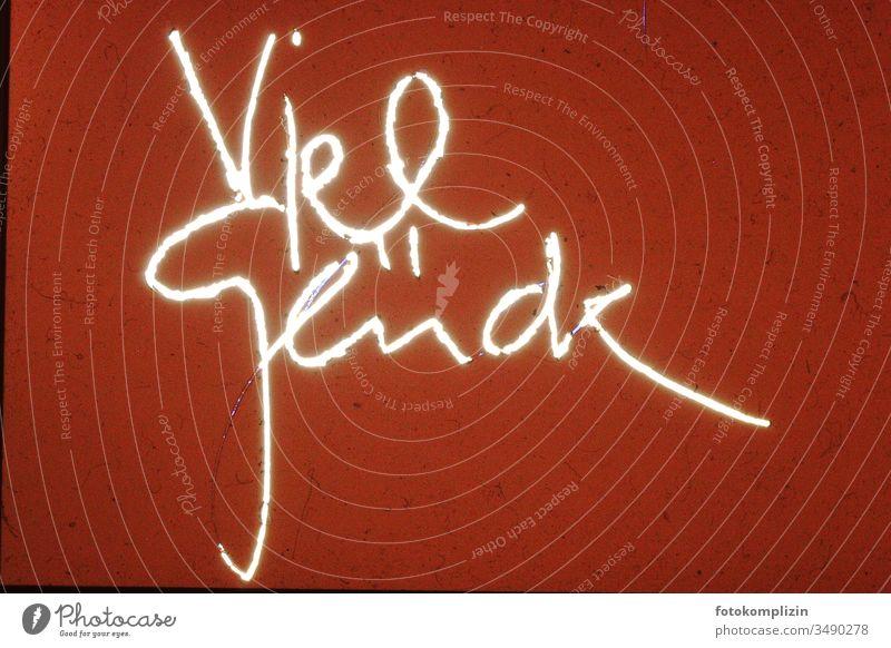 Viel Glück Glückwunsch Wunsch Kalligraphie Wünsche glücklich Gefühle Schreibschrift Buchstaben schreiben wünschen adressieren