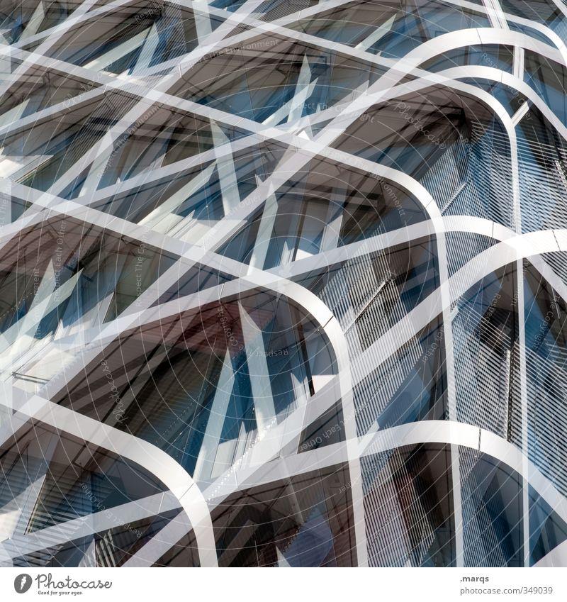 Chaos (geordnet) Lifestyle elegant Stil Design Kunst Architektur Fassade Metall Linie außergewöhnlich Coolness eckig glänzend trendy einzigartig modern rund