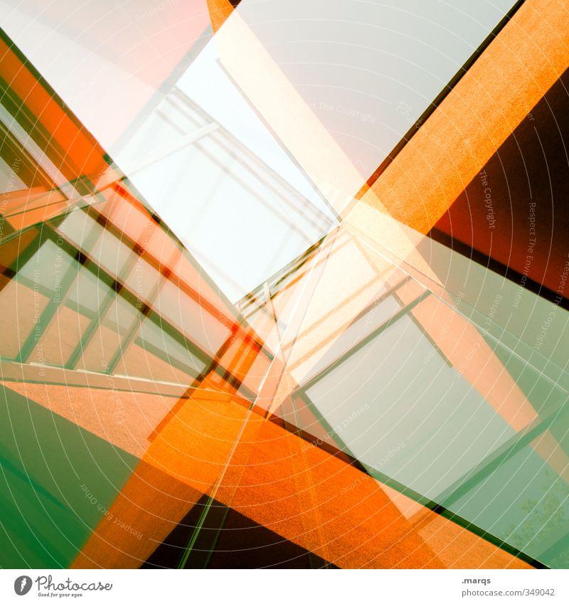 Advanced Architecture grün Farbe Fenster Architektur Gebäude Stil außergewöhnlich Linie Hintergrundbild orange Fassade elegant Lifestyle Design modern