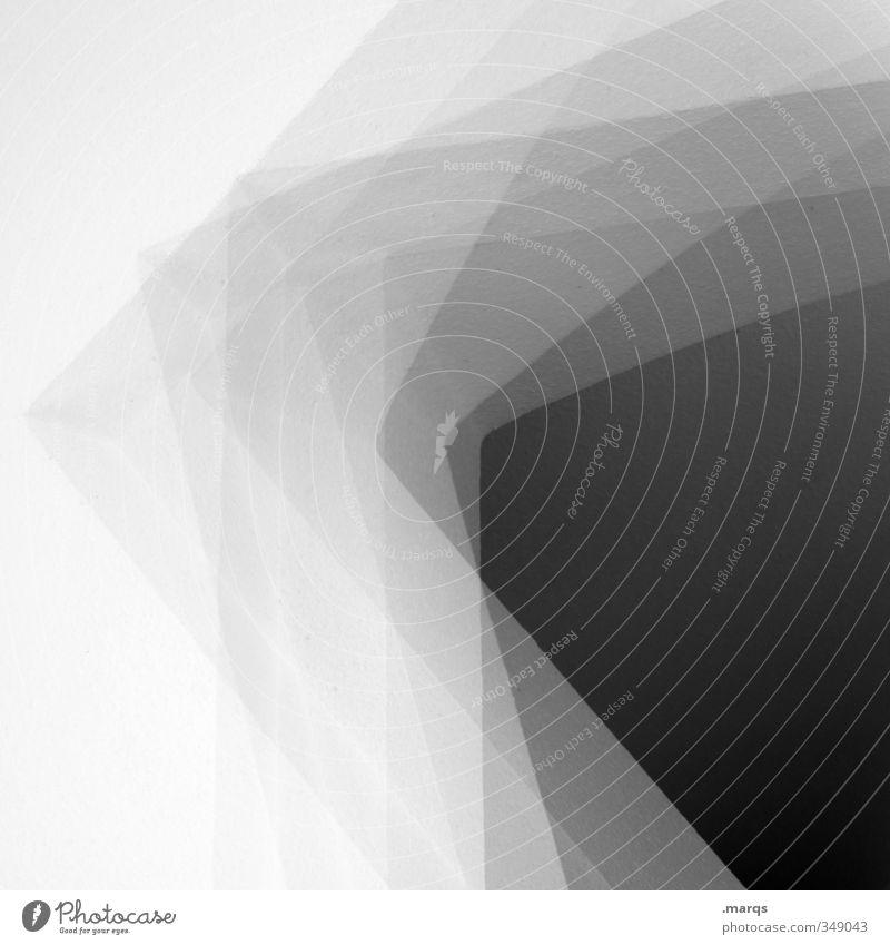 Runde Ecke elegant Stil Design Innenarchitektur Architektur ästhetisch eckig modern neu verrückt schwarz weiß Perspektive Irritation Doppelbelichtung