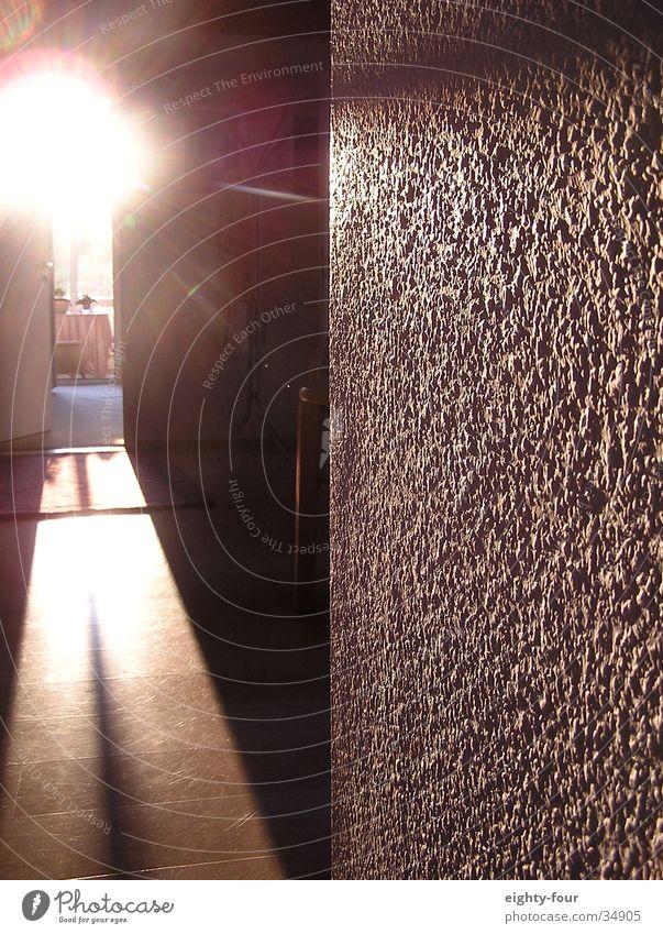 sonnenmorgen Sonne Küche Tapete blenden grell Blendenfleck Lichtfleck