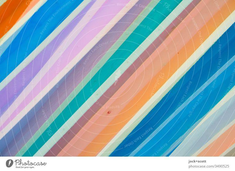 bunte Streifen/Linien nebeneinander Oberfläche viele Hintergrundbild Strukturen & Formen abstrakt Muster Detailaufnahme mehrfarbig Kreativität
