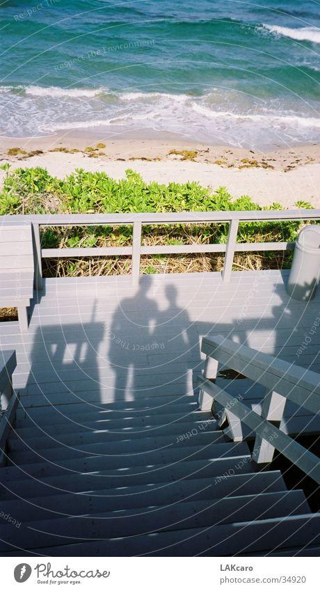 Urlaub Strand Meer Florida New York City Sonne Mensch Schatten Liebe