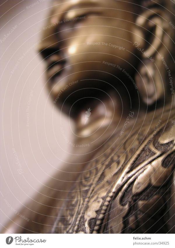 Buddha konkret Natur ruhig Leben Religion & Glaube Metall Zufriedenheit glänzend Dekoration & Verzierung Frieden Asien Gelassenheit China Statue Tiefenschärfe