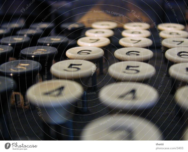 0 Mhz 0 mb berühren historisch Tastatur Informationstechnologie Abakus