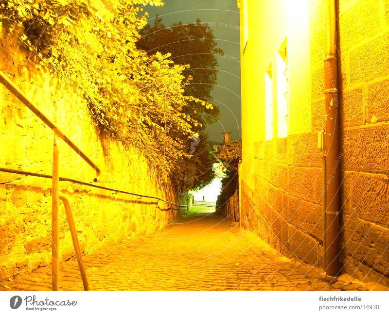 goldener mittelweg Marburg Nacht Gasse Langzeitbelichtung Sommer Architektur Wege & Pfade
