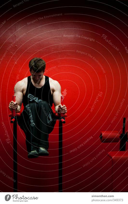 Pumpen Mensch Jugendliche schön rot Erwachsene Sport 18-30 Jahre Gesunde Ernährung Gesundheit maskulin Kraft Energie Fitness sportlich Konzentration