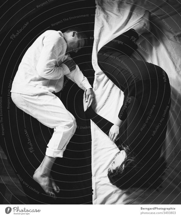 Yin und Yang weiß Zufriedenheit frau Kontrast mann liebe Handelshafen