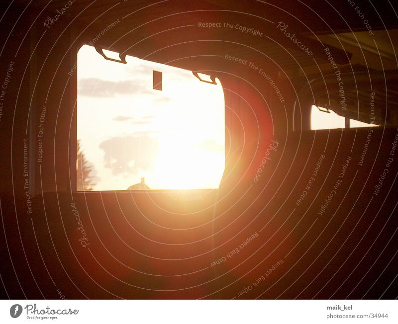 Sonne Eisenbahn Licht Verkehr Lichterscheinung Beleuchtung hell
