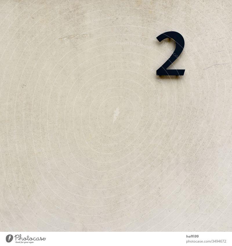 Nummer zwei 2 nummer 2 Ziffern & Zahlen ziffer Zeichen Schilder & Markierungen Schriftzeichen numerisch zweiter
