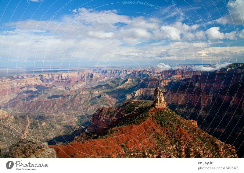 Mount Hayden Ferien & Urlaub & Reisen Tourismus Abenteuer Ferne Freiheit Umwelt Natur Landschaft Himmel Wolken Klima Klimawandel Wetter Schönes Wetter Schlucht