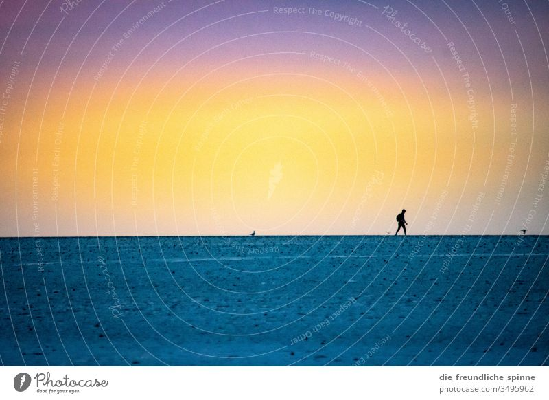 Wattenmeer I Strand Himmel Meer Küste Wasser Horizont Natur Tourismus blau Außenaufnahme Ferien & Urlaub & Reisen Landschaft Menschenleer Sehenswürdigkeit Ferne