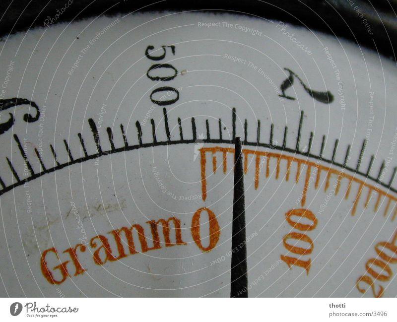 Nulldiät Gewicht Waage Fototechnik wiegen Gramm