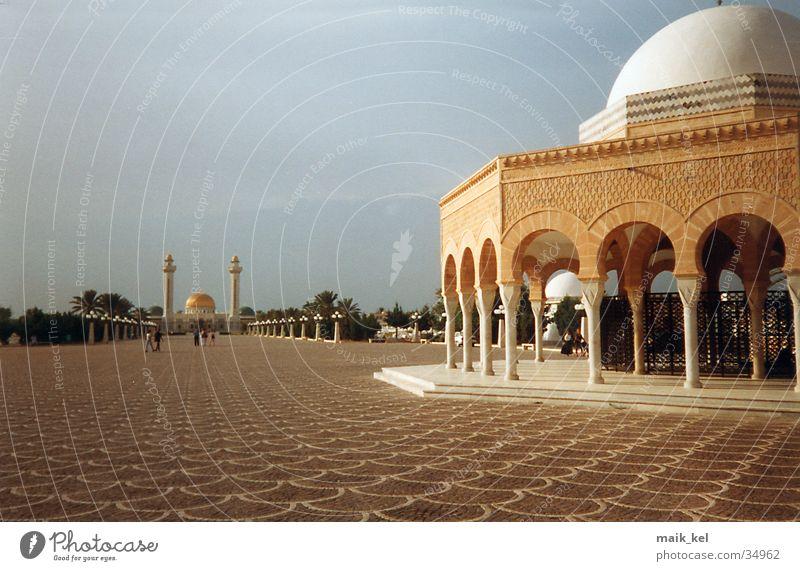 Arabische Bauten Islam Arabien Kuppeldach Gotteshäuser Grabmal Tunesien