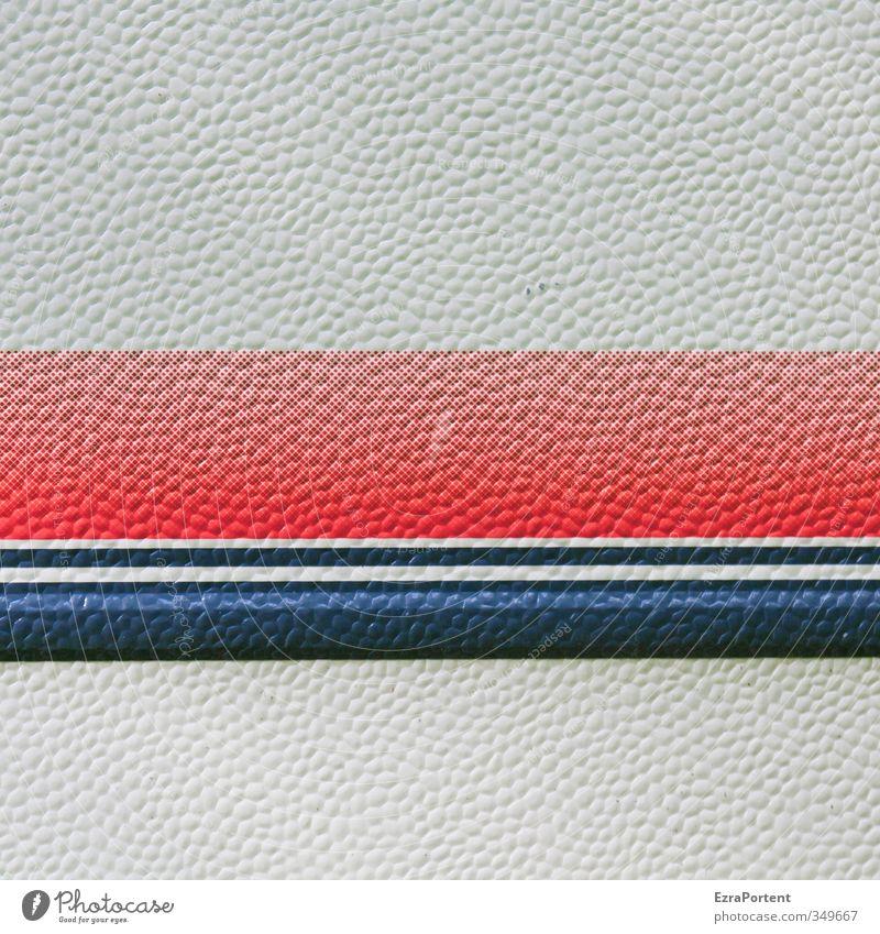 liniert Camping Kunst Wohnwagen Zeichen blau rot weiß minimalistisch Linie graphisch Grafische Darstellung Farbfoto Außenaufnahme Menschenleer Textfreiraum oben
