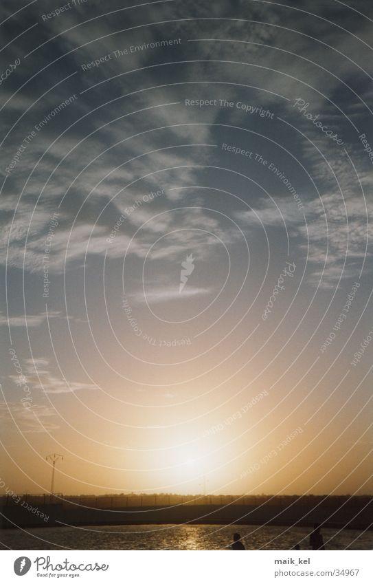 Sonnenuntergang in Tunesien Natur Himmel Wolken Stimmung Romantik Abenddämmerung