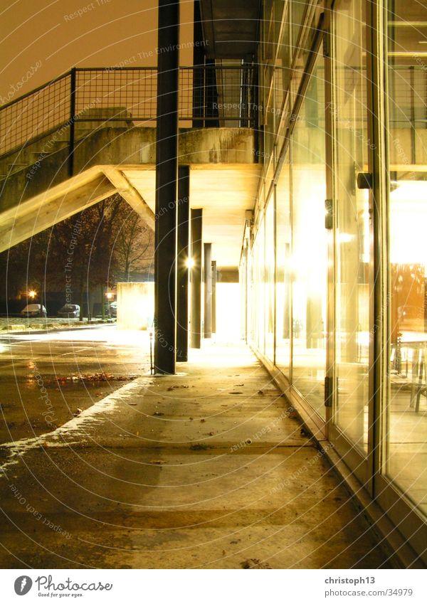 HBK-Kassel Langzeitbelichtung Winter Nacht Fenster Architektur hbk Himmel Licht Schnee Surrealismus reflektion