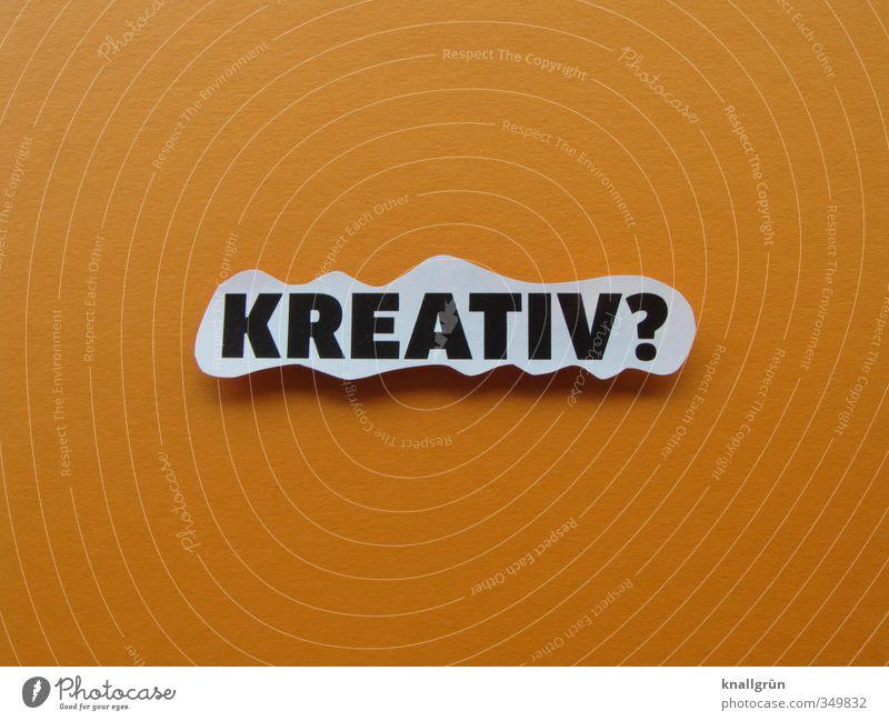 700 mal kreativ? Schriftzeichen Schilder & Markierungen Kommunizieren einzigartig orange weiß Gefühle Freude Lebensfreude Begeisterung Design Idee Inspiration