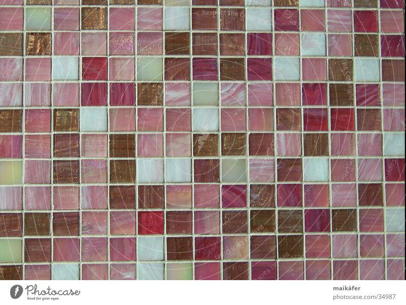 Mischung in rosé Stil braun Architektur glänzend rosa Fliesen u. Kacheln Handwerk beige Raster Fuge Mosaik