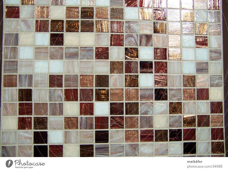 Mischung in Braun Stil braun Architektur glänzend Fliesen u. Kacheln Handwerk Raster Fuge Mosaik