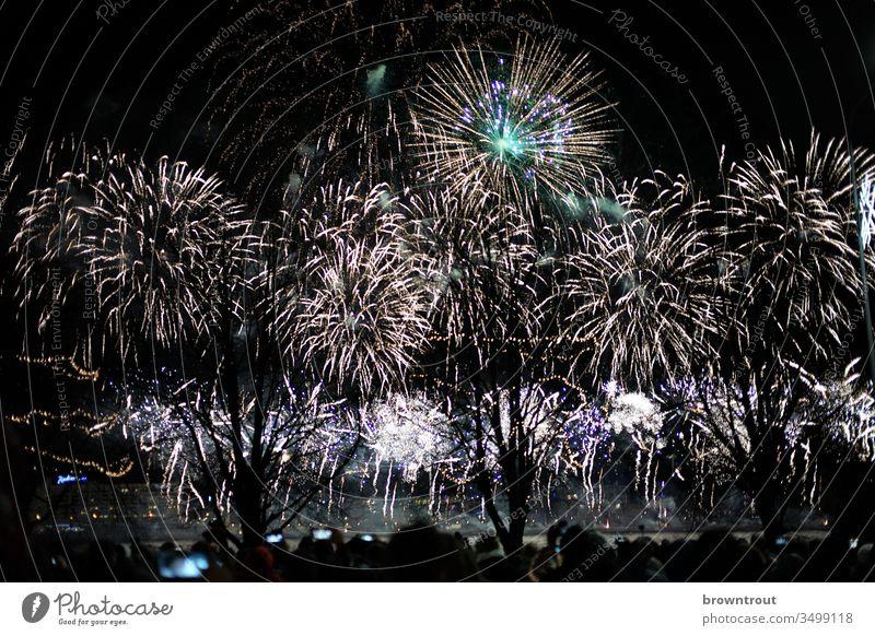 Sylvester Feuerwerk in Riga Nacht Party Knall erleuchtet raketen silvesterrakete