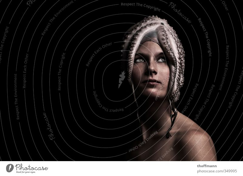 Karl-Kopf Lifestyle elegant Stil exotisch schön Haare & Frisuren Kosmetik Mensch feminin Frau Erwachsene 1 18-30 Jahre Jugendliche Kunst Perücke Tintenfisch