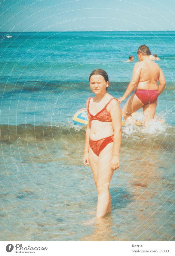 Nicole an der Ostsee Mensch Kind Wasser Sonne Strand Freude Sand Schwimmen & Baden