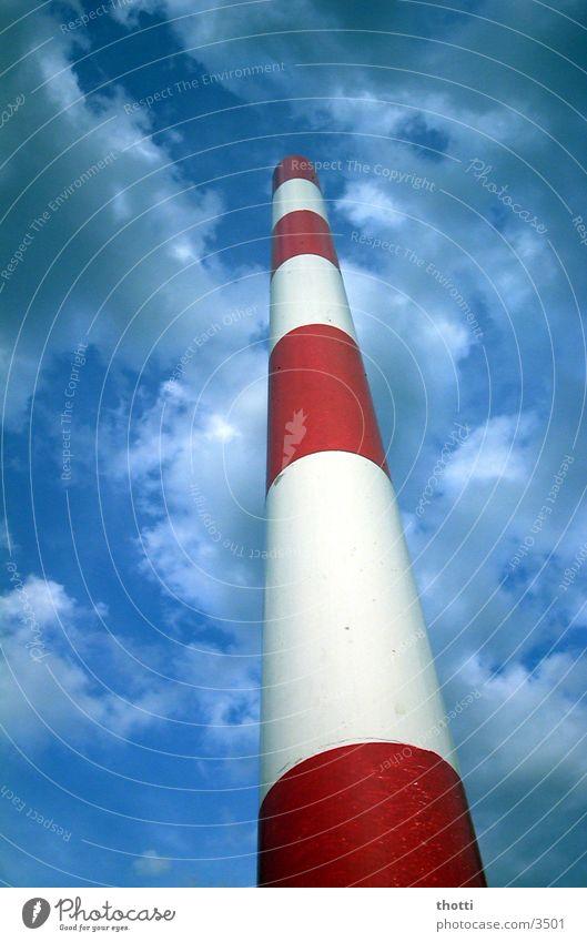 Border Himmel weiß rot Schilder & Markierungen Grenze Fototechnik
