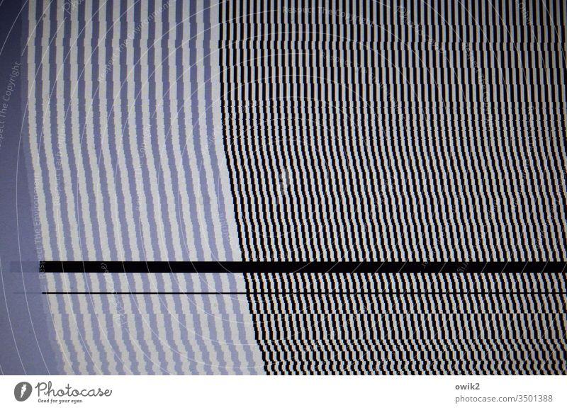 Computerpanne Muster Struktur Streifen Linien grau schwarz weiß parallel viele unklar rätselhaft dünn Ordnung gebogen einheitlich Strukturen & Formen abstrakt