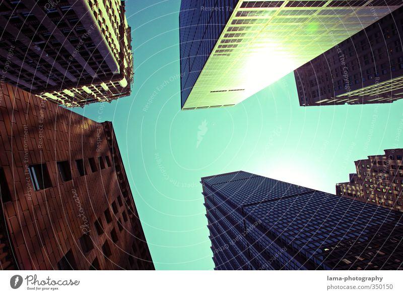 headwalls Himmel Stadt Haus Architektur Gebäude außergewöhnlich Hochhaus hoch USA Bankgebäude Wolkenloser Himmel Skyline Stadtzentrum Hauptstadt New York City