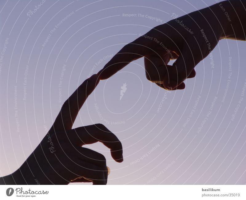 E.T. Mensch Hand Finger berühren Verabredung