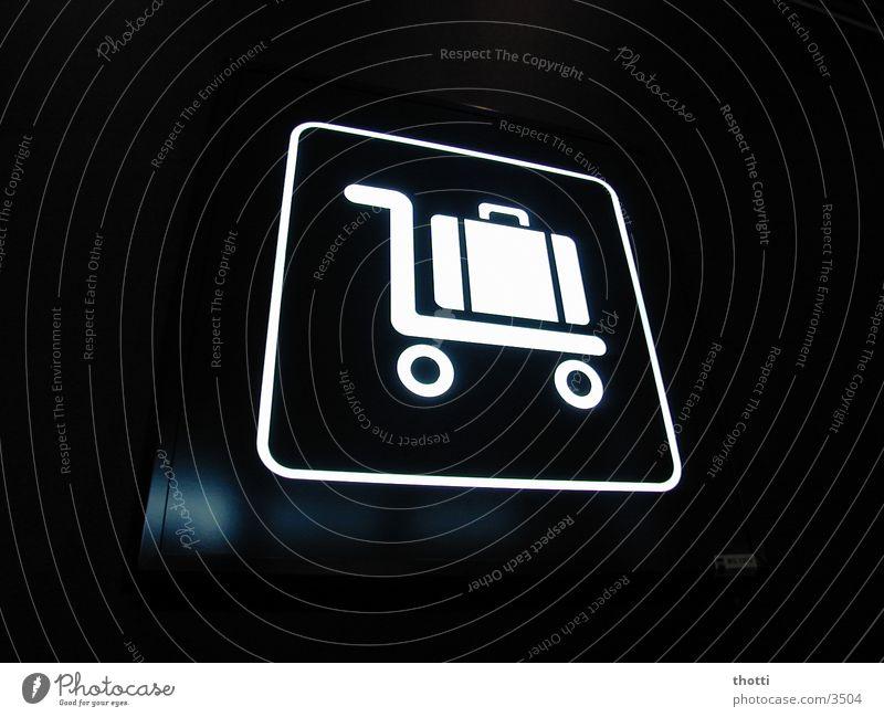 BRU cargo Gepäck Ladung Wagen Koffer Symbole & Metaphern Ikon Luftverkehr Flughafen Schilder & Markierungen