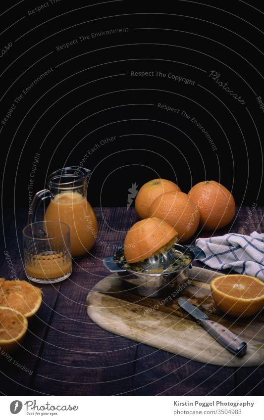 Orangen - frisch gepresst Healthy orangen obst vitiamine frühstück Frucht Lebensmittel Gesundheit süß Gesunde Ernährung Foodfotografie lecker