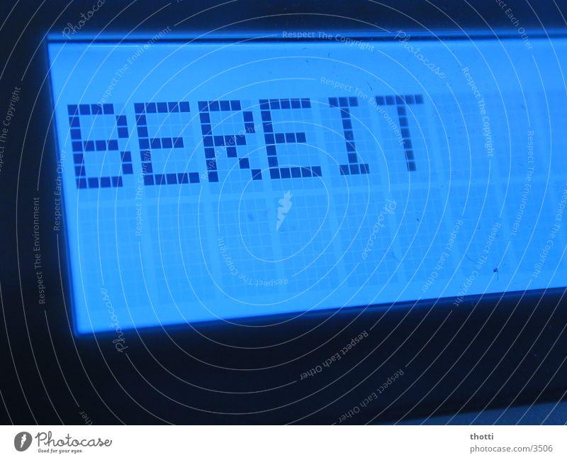 Ready bereit Drucker Informationstechnologie TFT-Bildschirm Matrix Elektrisches Gerät Technik & Technologie Computer ready Software Anzeige