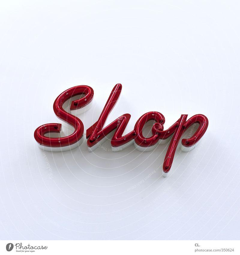 shop weiß rot Wand Mauer Freizeit & Hobby Schilder & Markierungen Wachstum Lifestyle Schriftzeichen kaufen Geld Werbung Gesellschaft (Soziologie)
