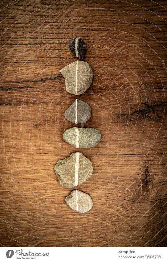 Lifeline | Linie aus Steinen lifeline Linien gerade Wege & Pfade bildhintergrund Maserung Holz Eiche vintage Farben Geometrie Strichcode strich Kieselsteine