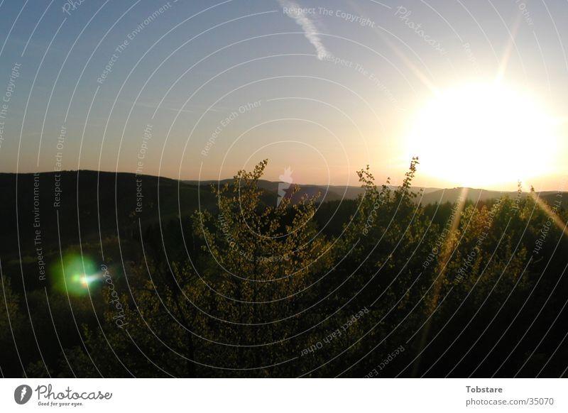Sauerland Natur Sonne Berge u. Gebirge gestellt