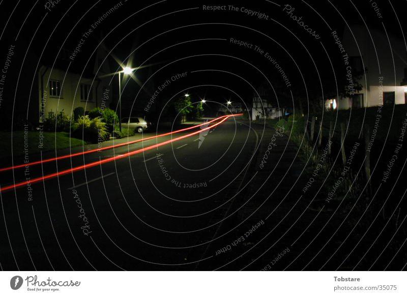 nachtfahrt PKW Geschwindigkeit lang Fototechnik Sauerland