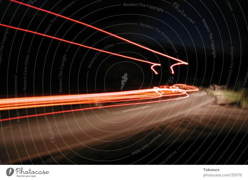 LKW bei nacht Geschwindigkeit lang Lastwagen Fototechnik