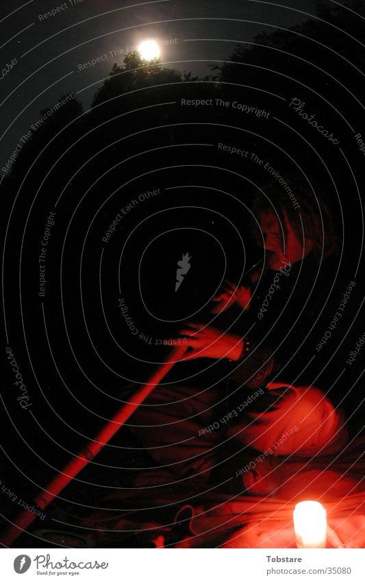 mondshine Mondschein lang Nacht See Kerze Didgeridoo Sauerland Fototechnik Lichterscheinung langzeitbelichtung belichtung Musik Musikinstrument