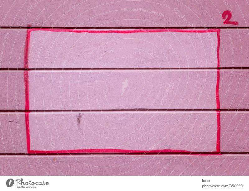 Höhere Mathematik (200) Wand Mauer Holz Linie rosa Treppe Schilder & Markierungen Beton Schriftzeichen einfach Streifen Ziffern & Zahlen Zeichen schreiben eckig