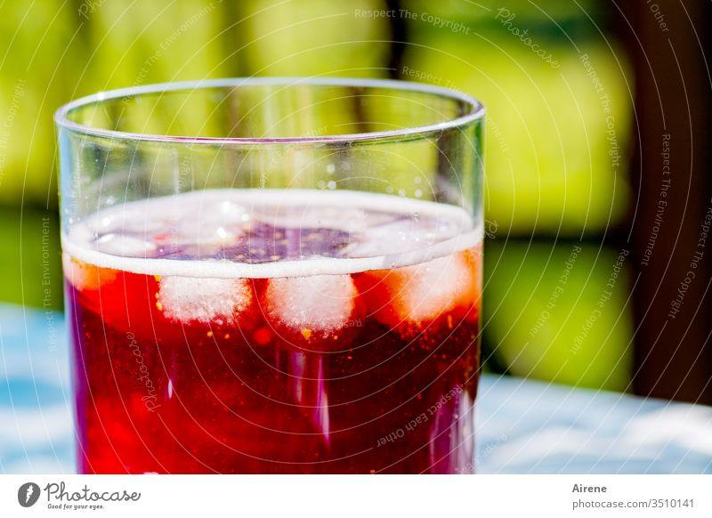 Cocktail noch ohne Cocktailstick Getränk Alkohol Aperitif trinken Erholung rot Negroni genießen Feste & Feiern Lebensfreude Erfrischungsgetränk Tag Menschenleer